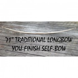 "71"" You-Finish Traditional Longbow"