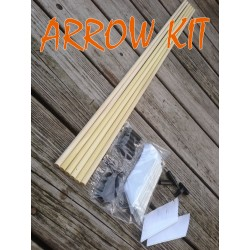 Arrow Building Kit! Poplar Shafts & Turkey Feathers! YOU CHOOSE COLOR!