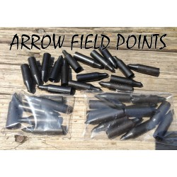 "12 (1 Dozen) Glue-On Arrow Field Points 11/32"" - 125 Grain"