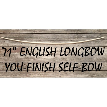 "71"" You-Finish English Longbow"