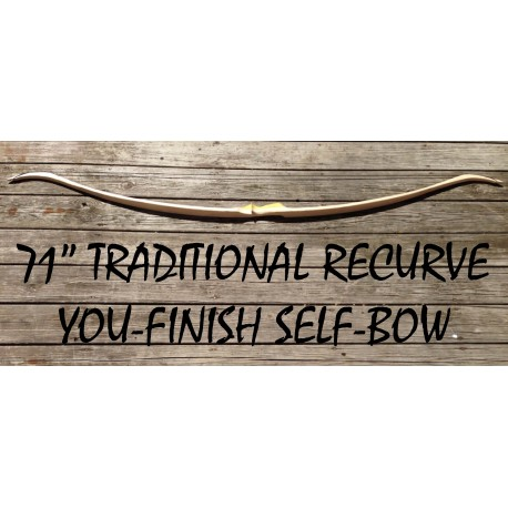 "71"" You-Finish Hickory Recurve"