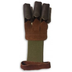 Black Leather Shooting Glove