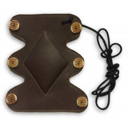 Dark Brown Leather Arm Guard