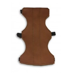 Brown Suede Leather Arm Guard